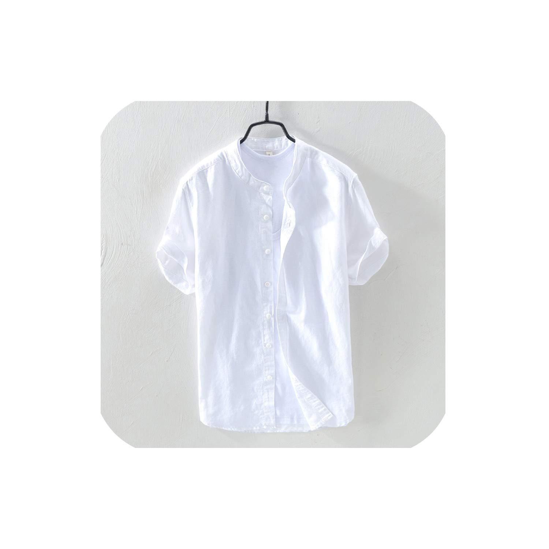 DO-RUI New Summer Linen Short Sleeved Shirts Breathes Cool Shirts Comfortable Shirts European Size Loose