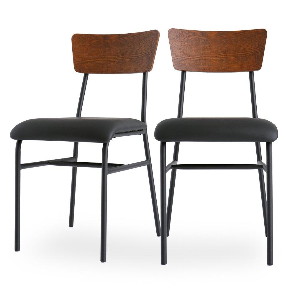 LOWYA (ロウヤ) ダイニングチェア 2脚セット タモ材 天然木 木製 ダイニングチェアー 椅子 単品 ブラウン おしゃれ 新生活 B01B2R4Z5U 【チェア2脚セット】|ブラウン ブラウン 【チェア2脚セット】