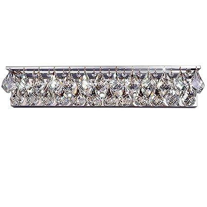 Kunmai Luminous Led Crystal Bath Vanity Lighting Fixture Wall Sconce