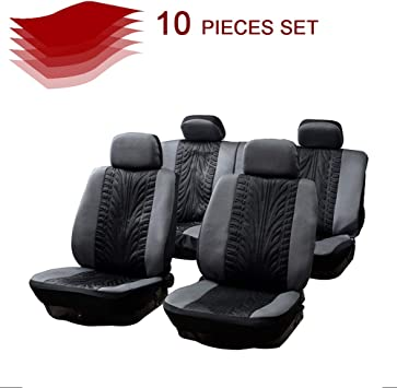 Black//Gray 100/% Breathable Car Seat Cover Washable Auto Seat Covers Replacement fit for Most Cars cciyu Universal Seat Cover w//Headrest Covers