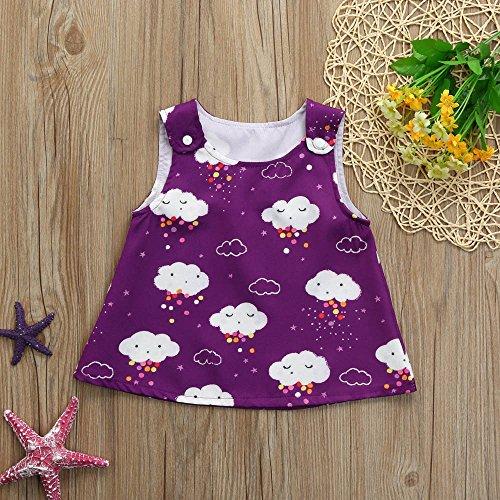 27e3477fd Vestido para niña Nubes blancas de floral Imprimir Vestido Vestido de la  honda para Bautizo Bebé