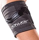 DonJoy Performance TRIZONE Compression Sleeve: Tennis/Golfers Elbow Support, Black, Small