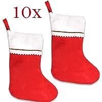 Jonami 10 Medias de Navidad Decoracion, Bolsa