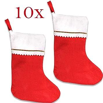 Jonami 10 Medias de Navidad | Bolsa de Regalo para Navidad Papá Noel | Decoración Navideña