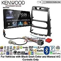 Volunteer Audio Kenwood DMX7704S Double Din Radio Install Kit with Apple CarPlay Android Auto Bluetooth Fits 2009-2012 Hyundai Genesis (Black) (Manual A/C controls)