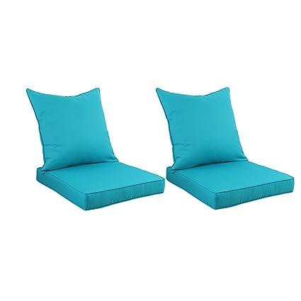 Amazon.com: Juego de cojines profundos para silla de ...