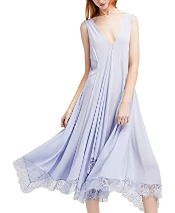 a26d06da6e8a Free People Women's Girl Like You Slip Dress Pastel Blue XS at Amazon  Women's Clothing store: