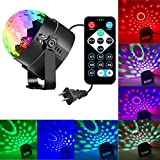 Disco Party Light Music Ball Light Sound Activated DJ Lights 7 Colors Strobe Light for Home Party with Kids Birthday Party Light Pub Music Light Stage Lights for Festival Bar Club Party