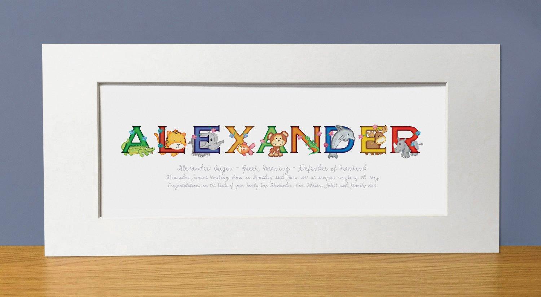 Personalised name print baby name gifts amazon baby negle Choice Image