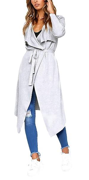 Betrothales Para Mujer Abrigo Largo Abrigos Moda De Otoño