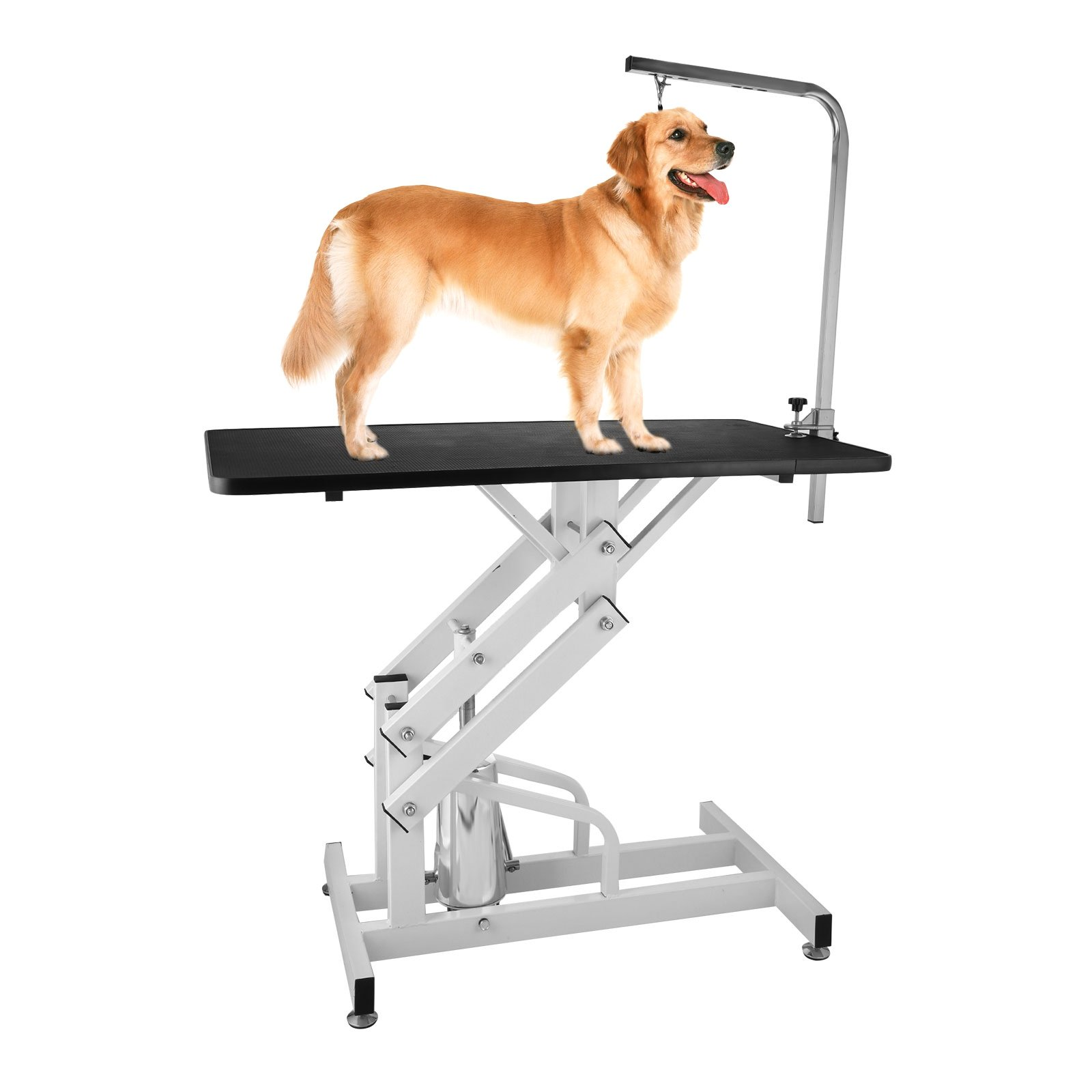 PETPAL Z-Lift Hydraulic Grooming Table 42.5 x 23.6 inches Pet Grooming Table Height Adjustable Pet Lift Grooming Table 220 LBS Weight Capacity (Black)