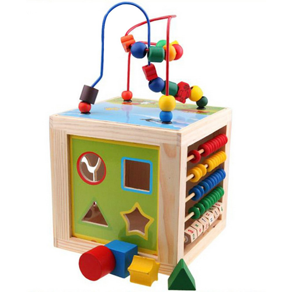 BEETEST Mini Kids madera granos coloridos Junta marco matemático apilamiento ábaco matemáticas habilidades juguete educativo para Más de 3 años los niños