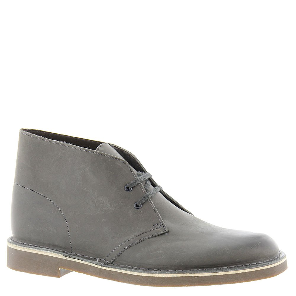 Clarks Men's Grey Leather Bushacre 2 14 D(M) US