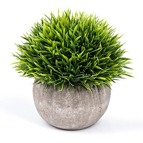 Vangold Artificial Plants Lifelike Bathroom Faux Plant Small Fake Plants with Pots for Home/Office Indoors Decor