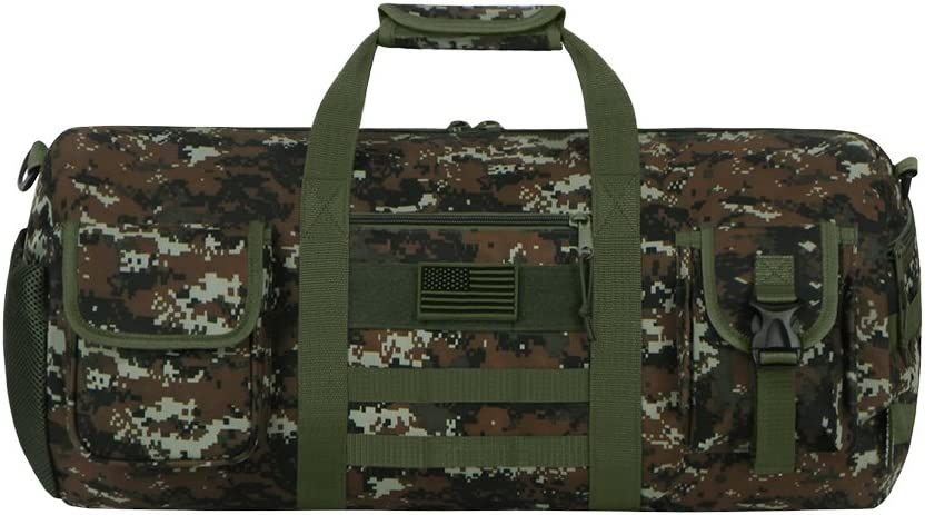 East West U.S.A RTDC703M Tactical Digital Camo Heavy Duty Round Duffel Bag