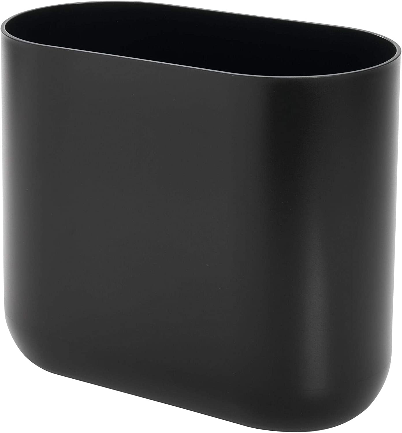 iDesign Cade Slim Bathroom Trash Can, for Bedroom, Kitchen, Office, Waste, Matte Black