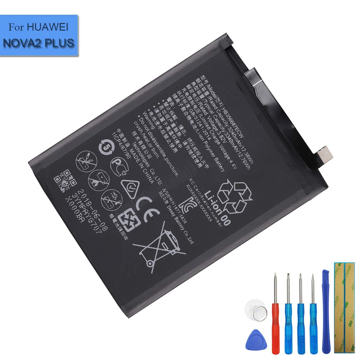 Bateria Celular Hb356687ecw Compatible Con Huawei Mate Se Honor 7x Nova 2 Plus Dual Sim 3340mah Con Herramientas