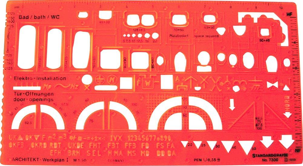 Standardgraph ST7300 - Maschera per arredi, scala 1:50 822256