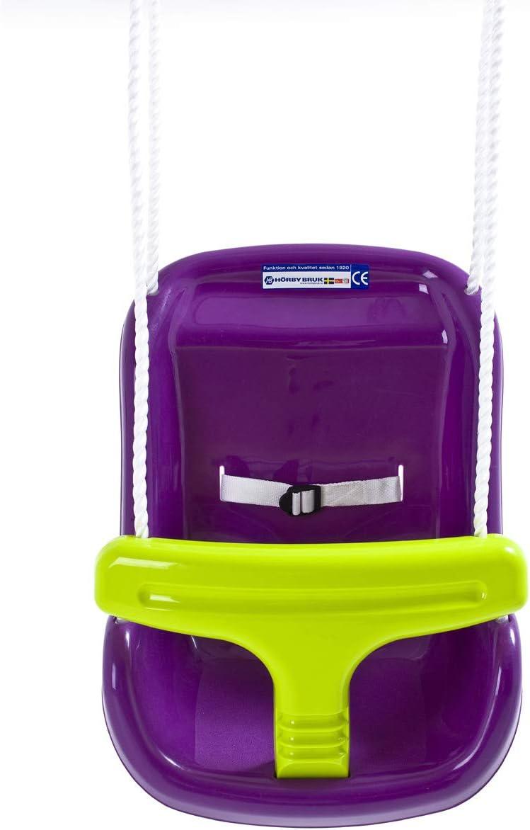 Hörby Bruk- Hörby Bruck 4023-Mecedora para bebé (Asiento balancín, Respaldo Alto, cinturón de Seguridad, Anillas metálicas), Amarillo, Color Morado (4023)