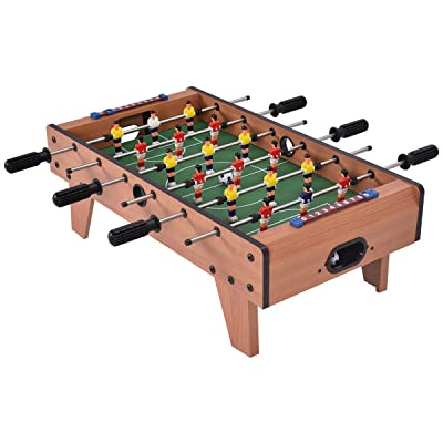 "Giantex 27"" Foosball Table, Easily Assemble Wooden Soccer Game Table Top w/Footballs, Indoor Table Soccer Set for Arcades, Game Room, Bars, Parties, Family Night : Sports & Outdoors"