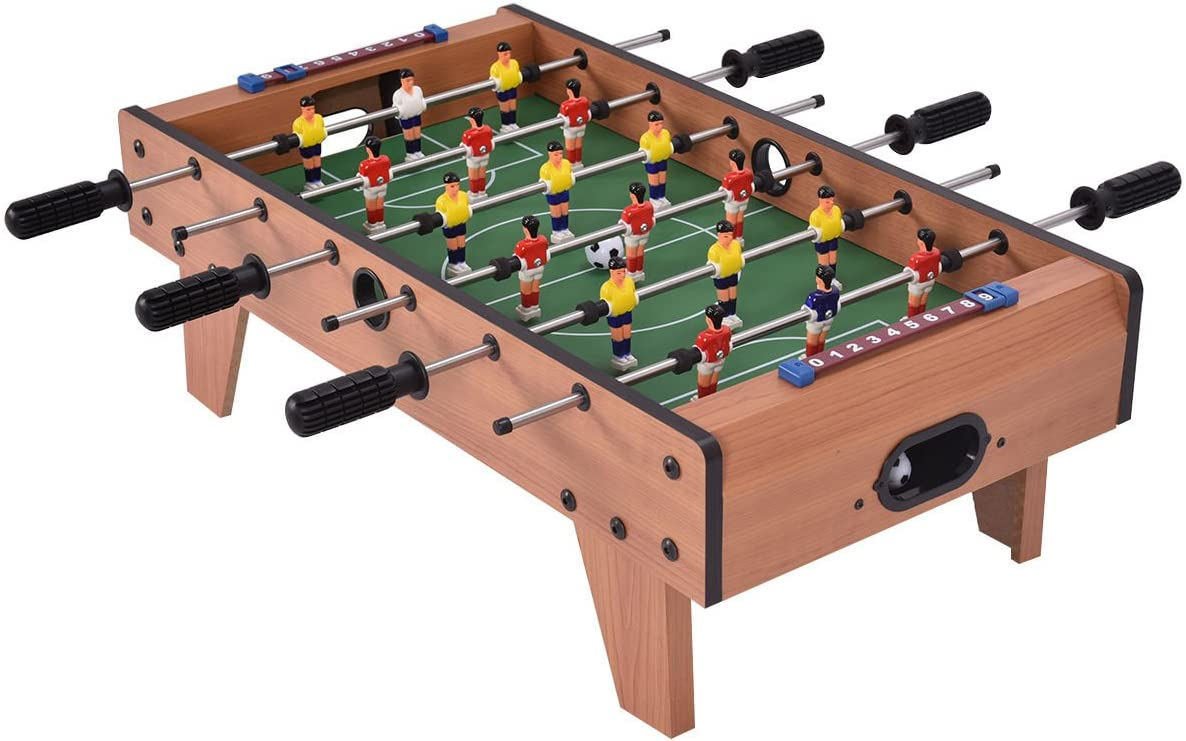 Giantex 27 Foosball Table Easily Assemble Wooden Soccer Game Table Top W Footballs Indoor Table Soccer Set For Arcades Game Room Bars Parties Family Night Sports Outdoors