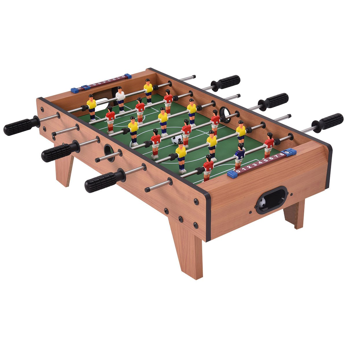 Giantex 27'' Foosball Table, Easily Assemble Wooden Soccer Game Table w/Footballs, Indoor Table Soccer Set for Kids by Giantex