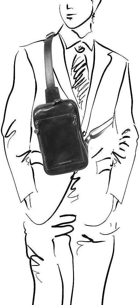 TUSCANY LEATHER Noir Martin Sac bandouli/ère en cuir