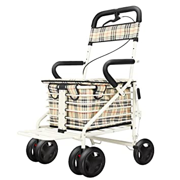 GFYWZ Ayuda para Caminar Caminante El Tráfico De Ancianos Ayuda Cinturón con Asiento Plegable Abarroter Multifuncional