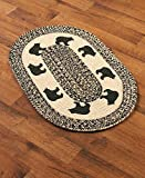 The Lakeside Collection Themed 20x30'' Braided Accent Rug - Bear