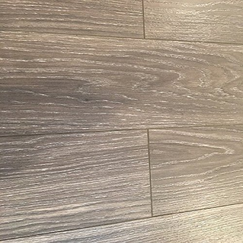 Dekorman 1139-2 AC3 CARBII V-Groove Click EIR 12-Oak Collection Laminate Flooring,  12mm, Grey Oak - 2 Oak Flooring