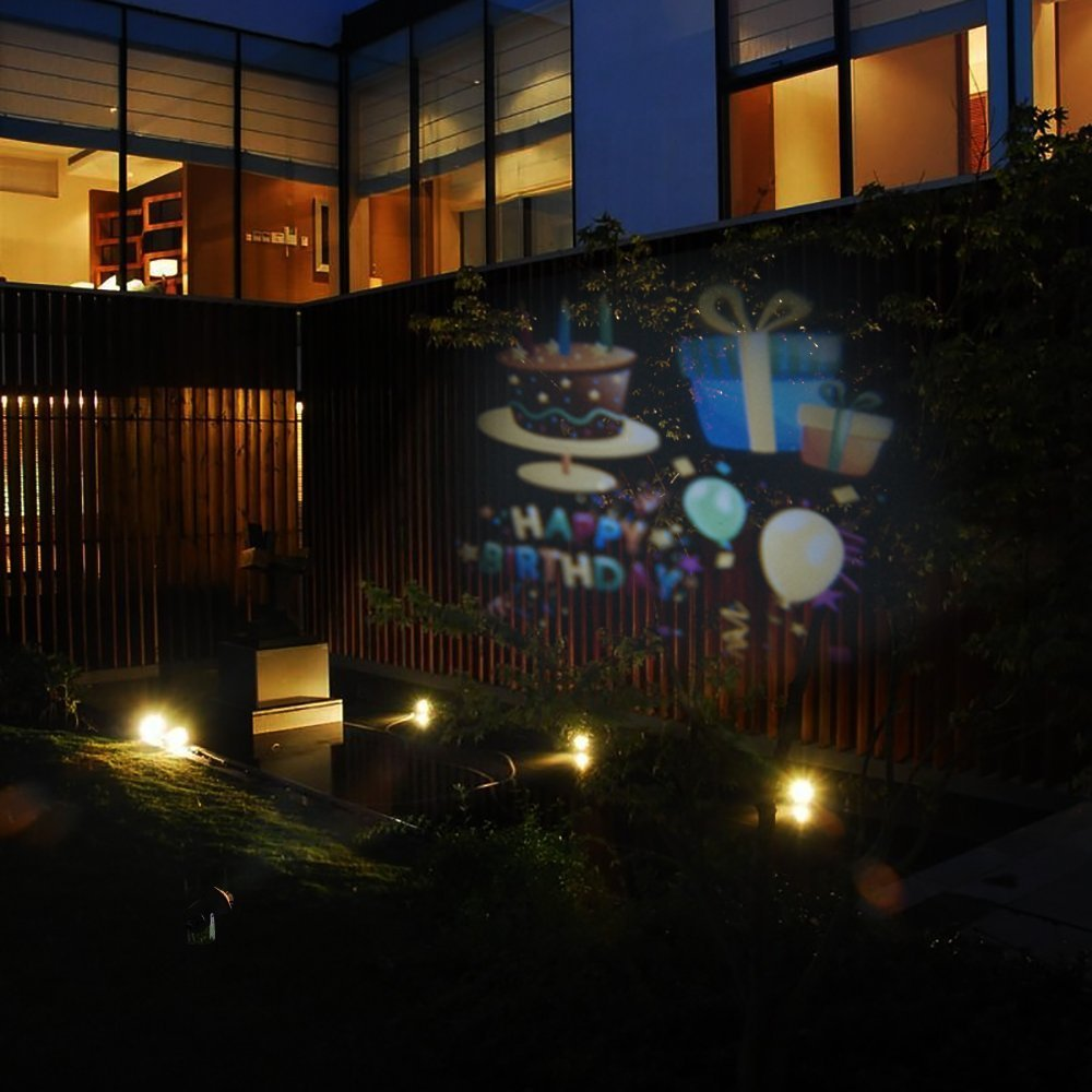 Christmas New Year's Day Valentine's Day Carnival Birthday SENQIAO Projector Light 12 Pattern LED Landscape Light Waterproof Garden Lamp Projection Lighting for Holiday, Party, Garden Decoration by SENQIAO (Image #3)
