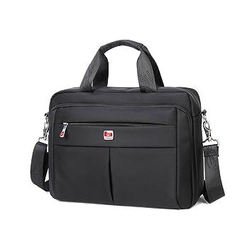 Zern Messenger Bag Hombre, impermeable, antiarañazos, fácil de limpiar, portátil bandolera
