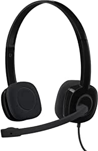 Logitech 3.5 mm AnalogStereo Headset H151 with Boom Microphone (981-000587),Black