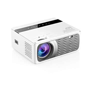 Docooler CP600 Proyector LCD LED 1080P Home Theater 200ANSI Lúmenes Reproductor Multimedia 200 Pulgadas Contraste HD VGA AV Controlador Remoto USB ...