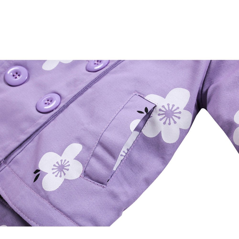 Goodkids Baby Girl Coat Windbreak Flower Hooded Jacket Kids Princess Spring Autumn Outwear