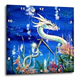 3dRose LLC Dragon Lore White Water Dragon 10 by 10-Inch Wall Clock Review