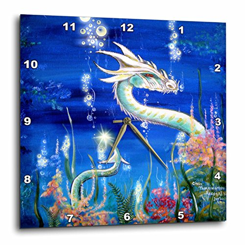Dragon Lore White Water Dragon 10 by 10-Inch Wall Clock
