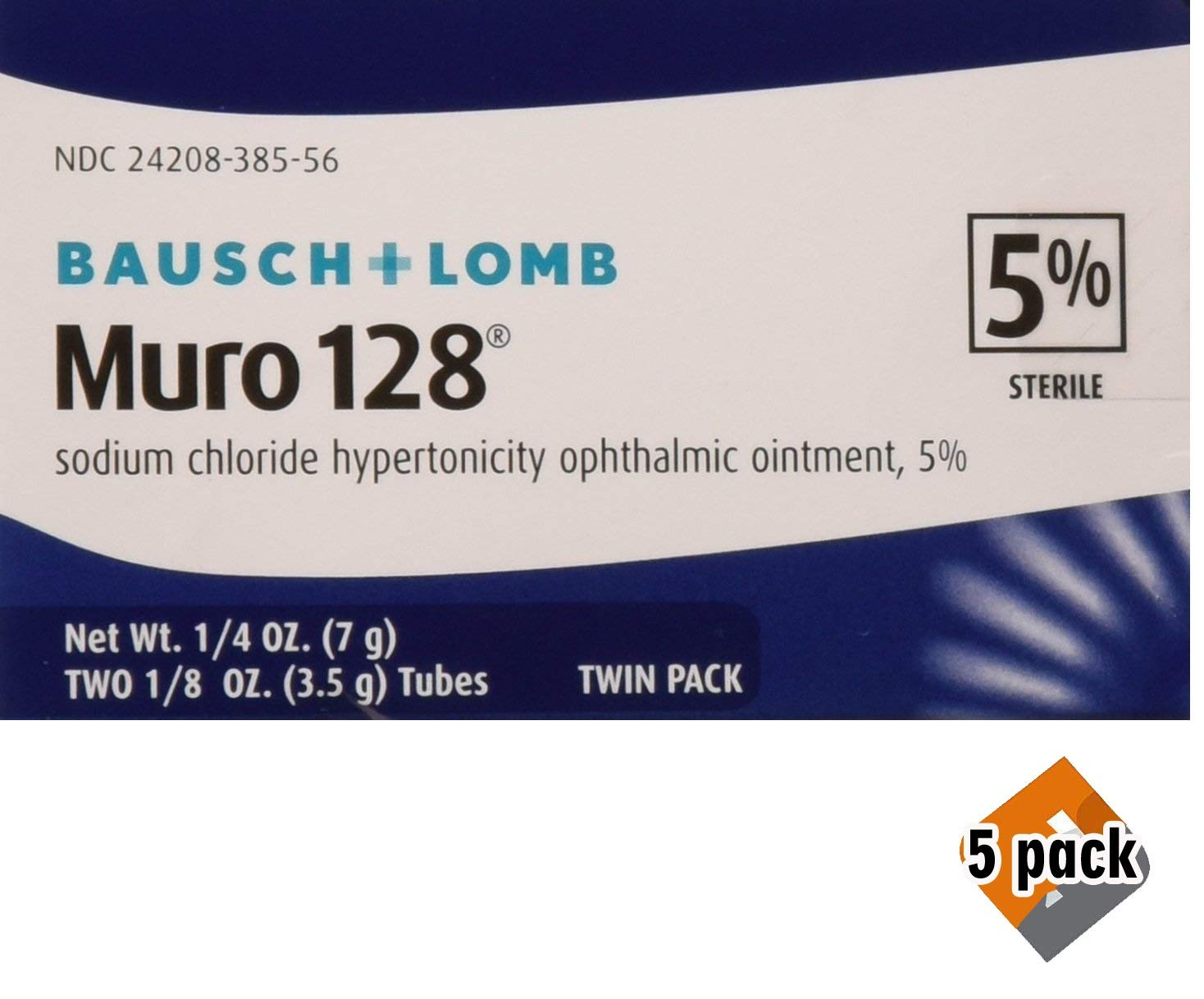 Muro 128 5 Percent 0.0 Twin Pack 2X1/8 OZ, 5 Pack (10 Count)