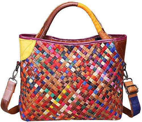 Heshe Womens Multi-color Shoulder Bag Hobo Tote Handbag Cross Body Purse(2B4038)