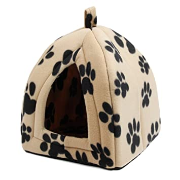 DuoShengZhTG con Lovely Paw Prints Cama para Perros de Lujo Cama para Mascotas Cat Cave Bed Pet Tent Pet Igloo (Color : Black Paw): Amazon.es: Productos ...