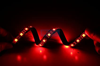 Tingkam 5050 SMD 1pcs 18leds 30cm red color LED Strip case Light Attached to Your PC & Amazon.com: Tingkam 5050 SMD 1pcs 18leds 30cm red color LED Strip ...