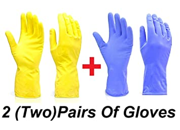 shopping top fashion website for discount Uva World Reusable Rubber Hand Gloves Waterproof Household ...