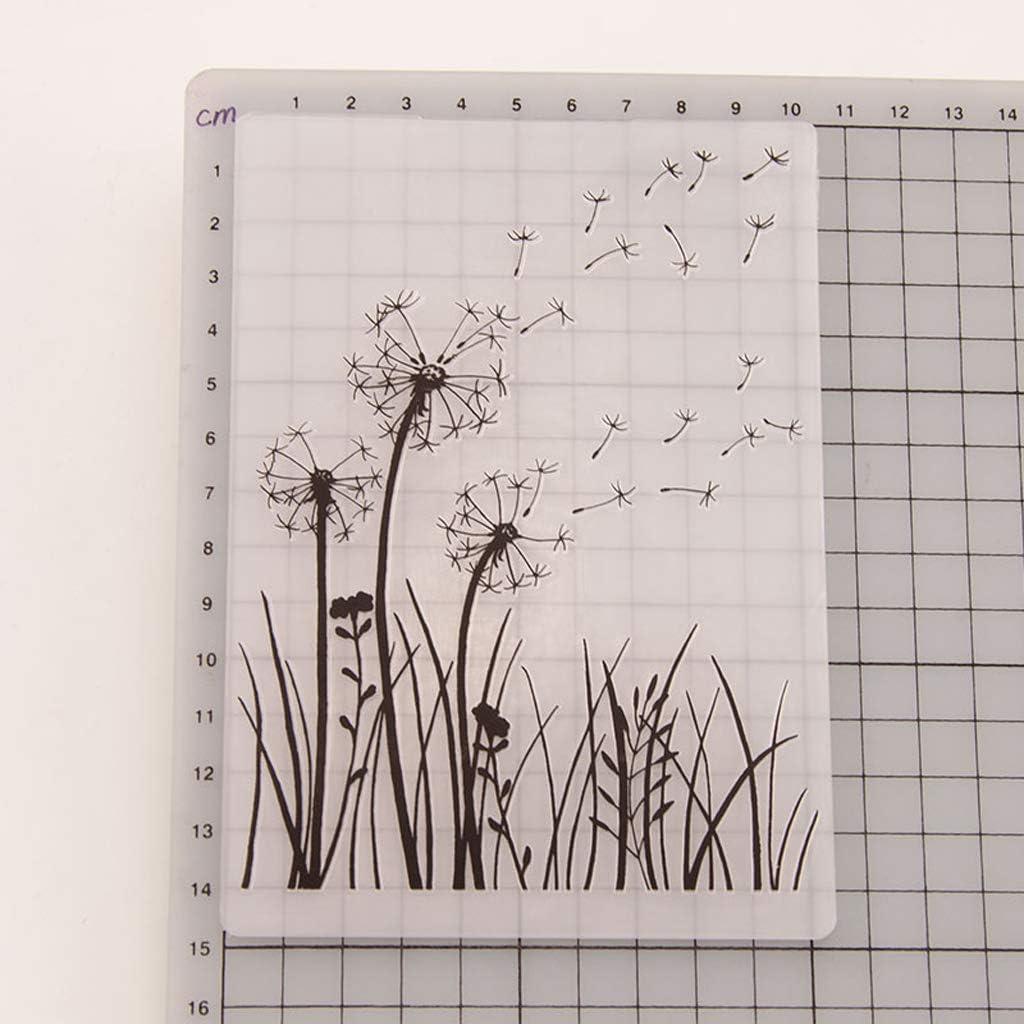 DIY Scrapbook Photo Album Card Making Decoration Crafts Dandelion puhoon Plastic Embossing Folder Template