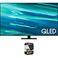 Samsung QN85Q80AA 85 Inch QLED 4K Smart TV (2021) Bundle with Premium 1 Year Extended Protection Plan