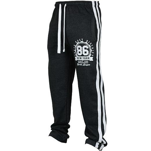 Fashion Men s Sport Jogging Fitness Pant Casual Loose Sweatpants Drawstring  Pant (Blcak, ... 7cd36534e111
