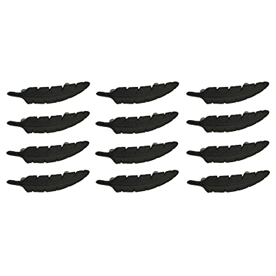 Zeckos Brown Cast Iron Feather Drawer Handle Cabinet Pull Furniture Decor Set of 12: Home & Kitchen [5Bkhe1105896]