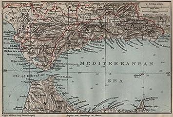 Karte Andalusien Cadiz.Amazon De Straße Von Gibraltar Andalusien Ceuta Cadiz Säulen Des