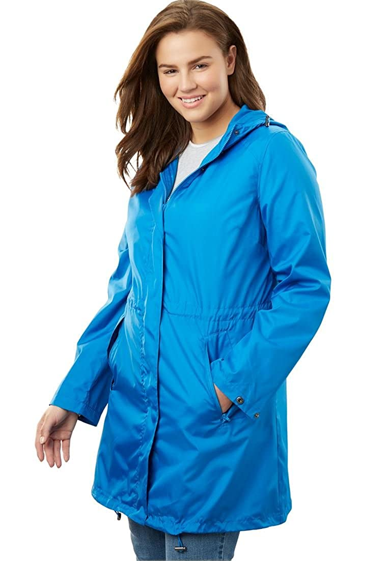 Woman Within Plus Size Packable Anorak Raincoat