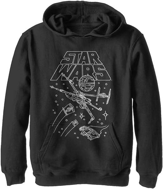 The Jedi Order White Ink  Star Wars Fighter Costume Black Crewneck Sweatshirt