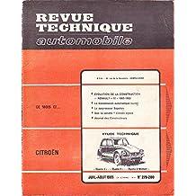 revue technique automobile numéro 279-280 Evolution de la construction Renault 10 1966-1969 Etude technique Dyane 4 Dyane 6 Dyane 6 méhari